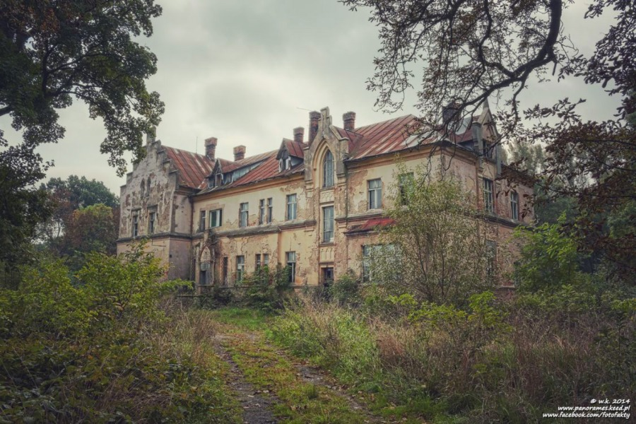 Pałac w Ligocie - Lista opuszczonych miejsc - Foto: Wioletta Kozłowska