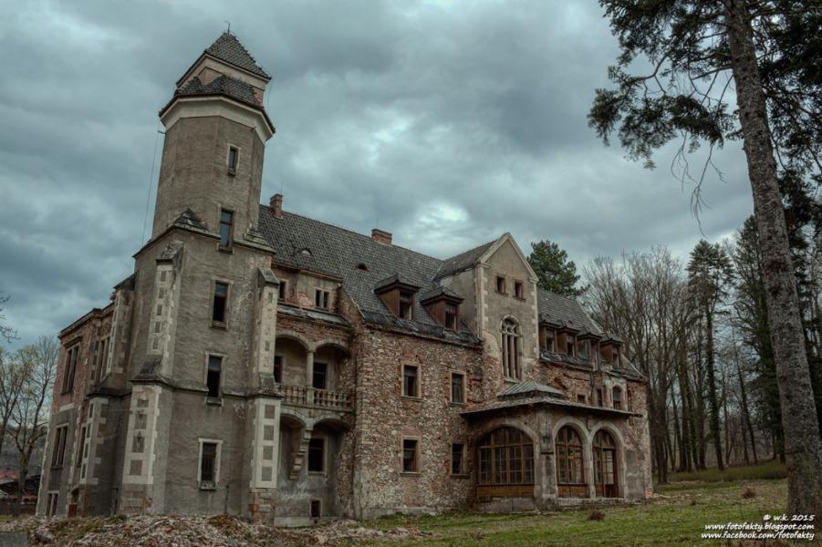 Pałac w Wojcieszowie - Lista opuszczonych miejsc na Dolnym Śląsku - Foto: Wioletta Kozłowska