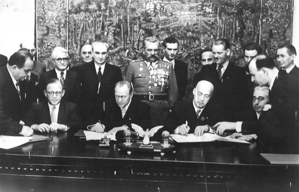 Podpisanie Układu Zgorzeleckiego - Historia Granic Polski - Źródło: fotopolska.eu