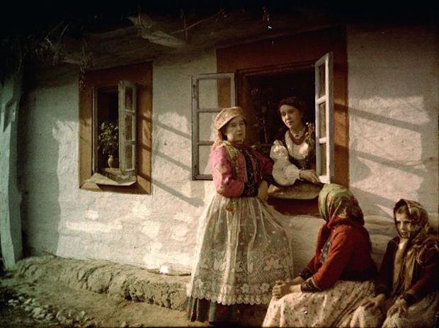 Mieszkańcy wsi Bronowice pod Krakowem - Rok 1914 - Foto: Tadeusz Rząca