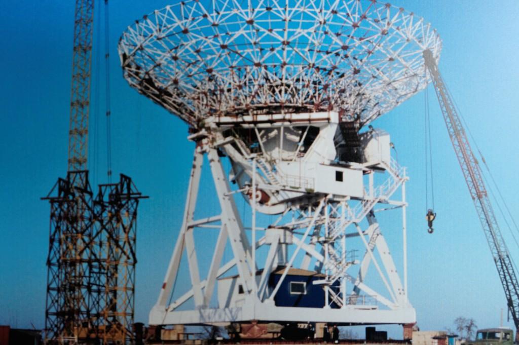 Radioteleskop RT-4 w Budowie - Zbiory Centrum Astronomii UMK w Piwnicach
