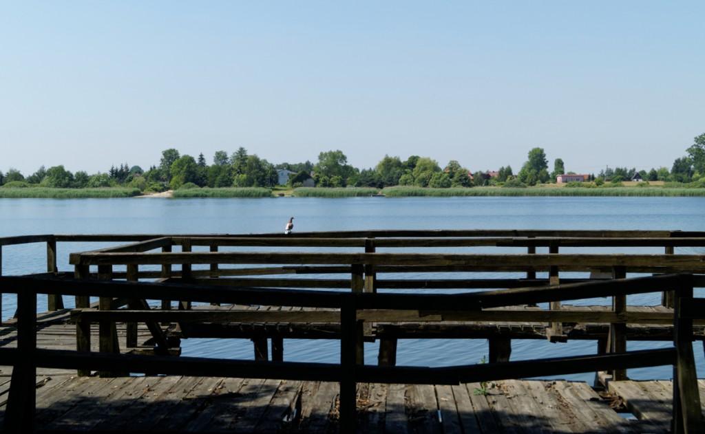 Lokalizacja przyczółka mostu zachodniego - Ostrów Lednicki