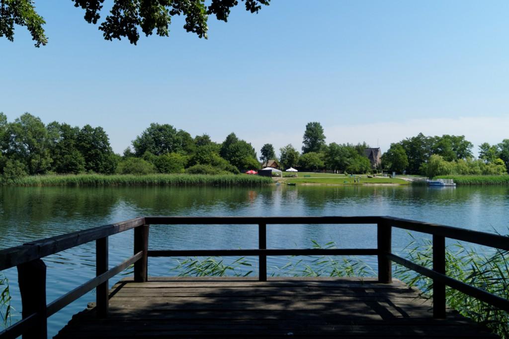 Lokalizacja przyczółka mostu wschodniego - Ostrów Lednicki