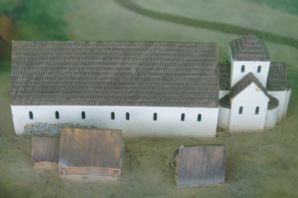 Model rekonstrukcji palatium - Zbiory Muzeum Pierwszych Piastów