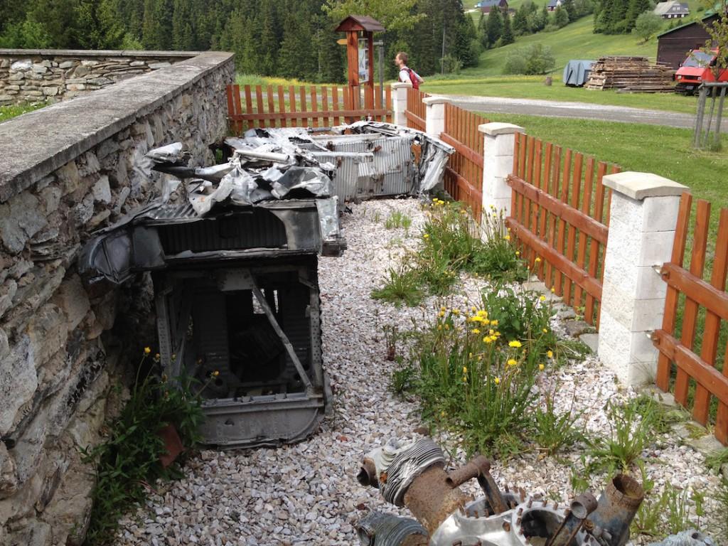 Szczątki Junkersa Ju-52 - Dolní Malá Úpa