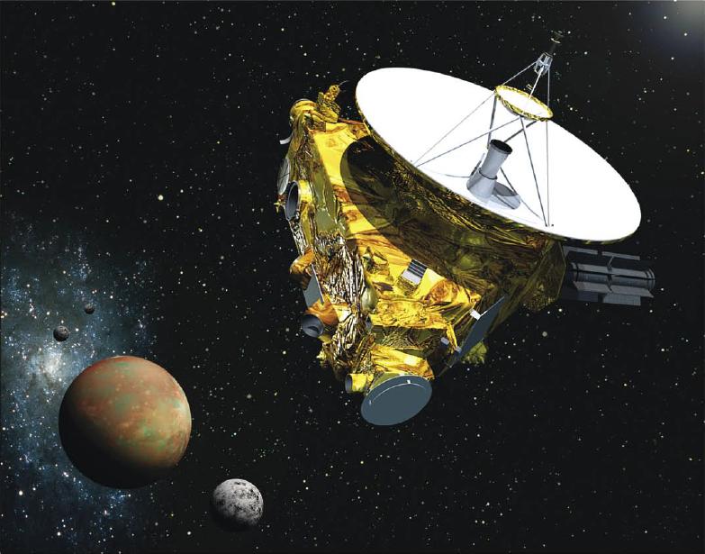 Wizualizacja sondy New Horizons wykonującej bliskie zdjęcia Plutona - Foto: NASA