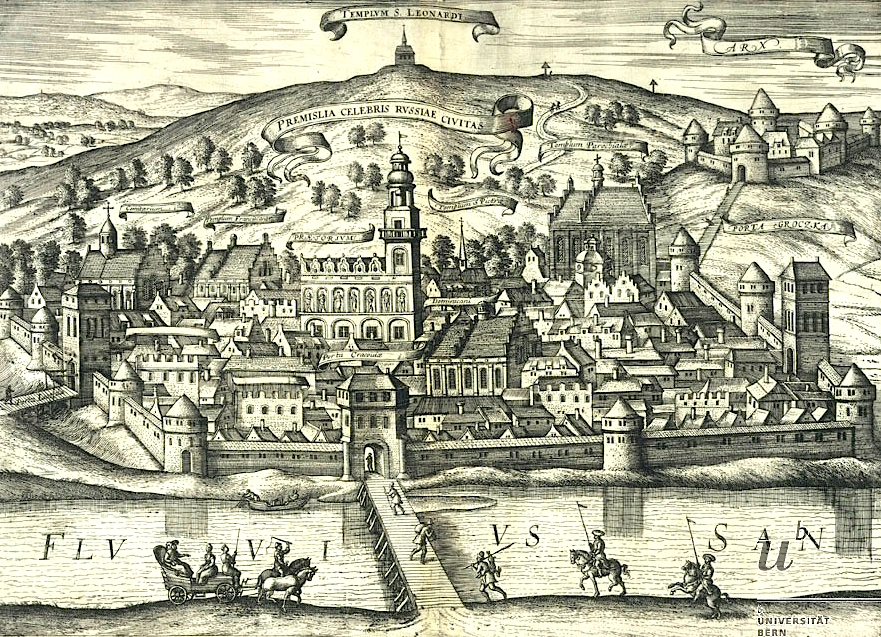 Przemyśl na starych panoramach - rok 1617