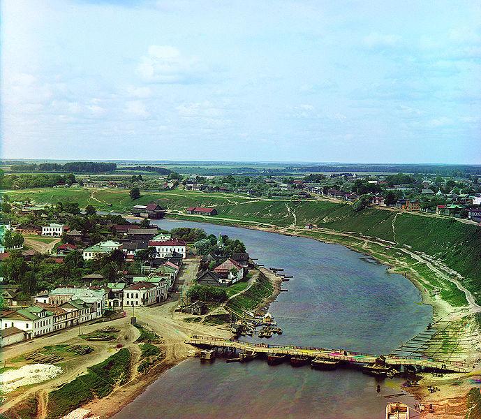 Panorama miasta Rżew nad Wołgą. Rok 1910.