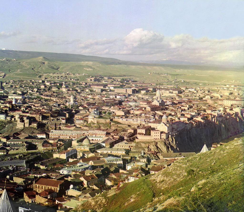Panorama Tbilisi stolicy Gruzji.