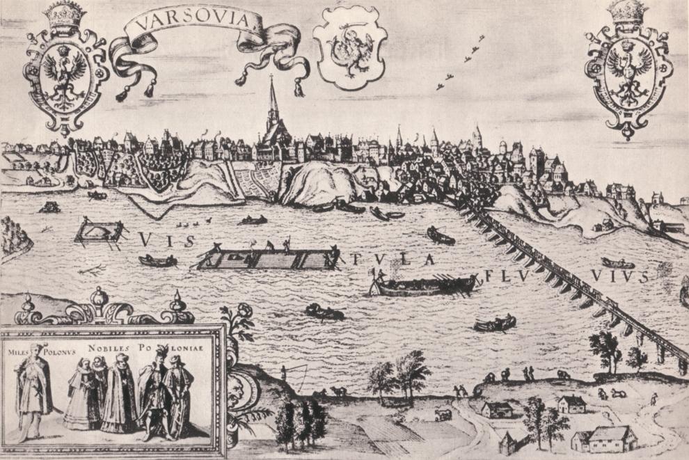 Warszawa na starych panoramach - rok 1589 lub 1586