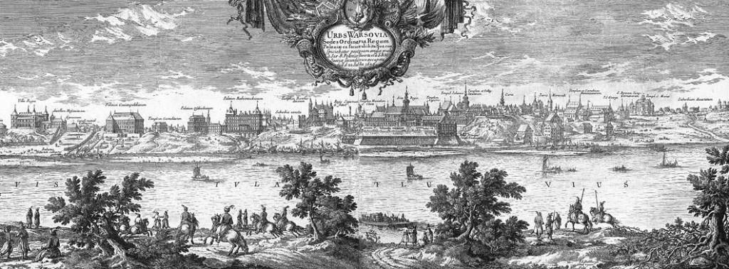 Panorama Warszawy - rok 1656