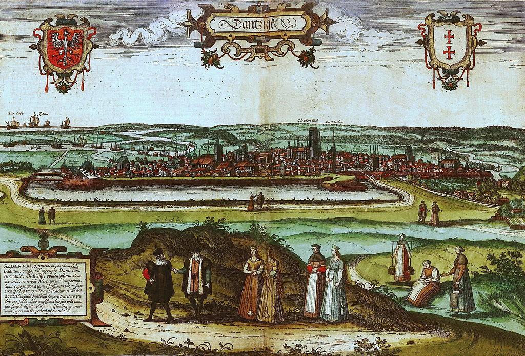Gdańsk na starych panoramach - około roku 1570