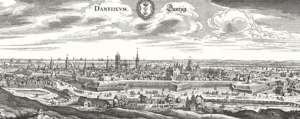 Panorama Gdańska - rok 1646 lub 1652