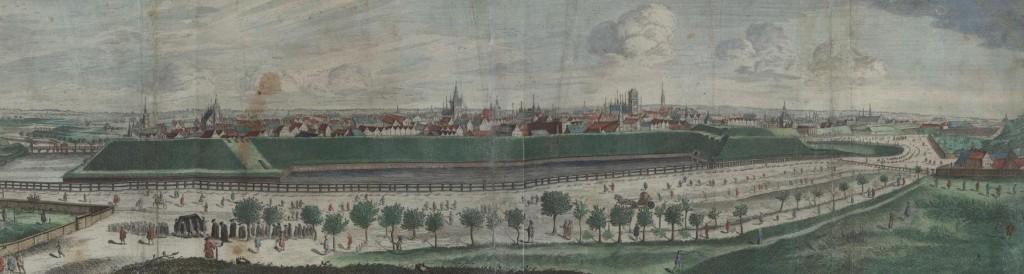Panorama Gdańska - rok 1687
