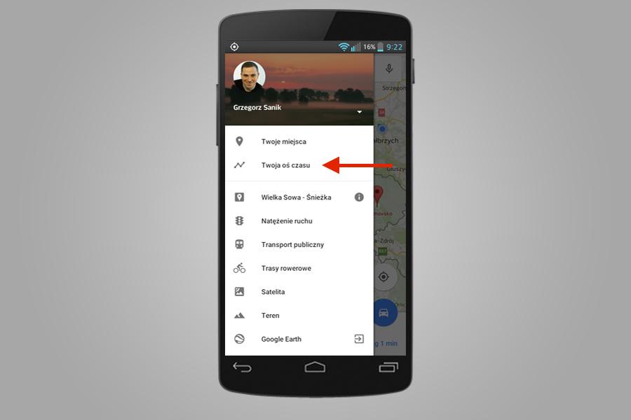 Aplikacja Google Maps i Twoja Oś Czasu