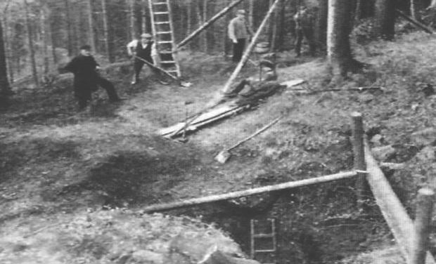 Kopalnia Złota na Ślęży - Badania Archeologiczne Rok 1929