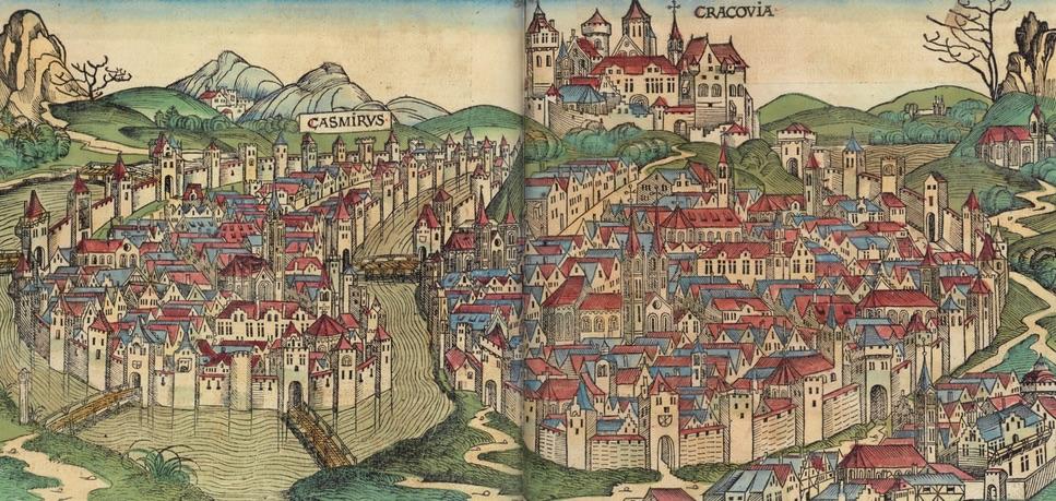 Widok Krakowa w Liber Chronicarum - rok 1493