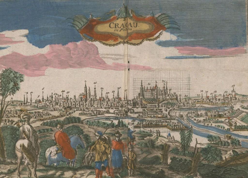 Widok Krakowa - lata 1793-1798