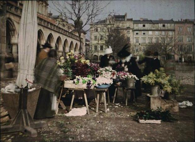 Rynek Główny w Krakowie - Rok 1912 - Foto: Tadeusz Rząca