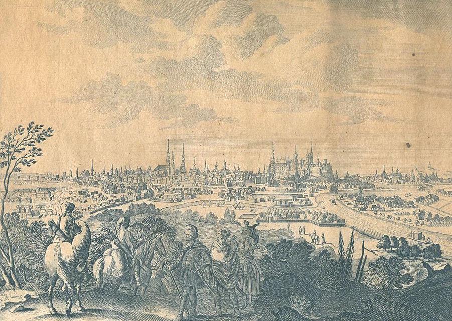 Kraków na starych panoramach - XVII lub XVIII wiek
