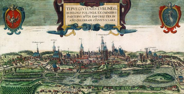 Panorama Lublina - rok 1618