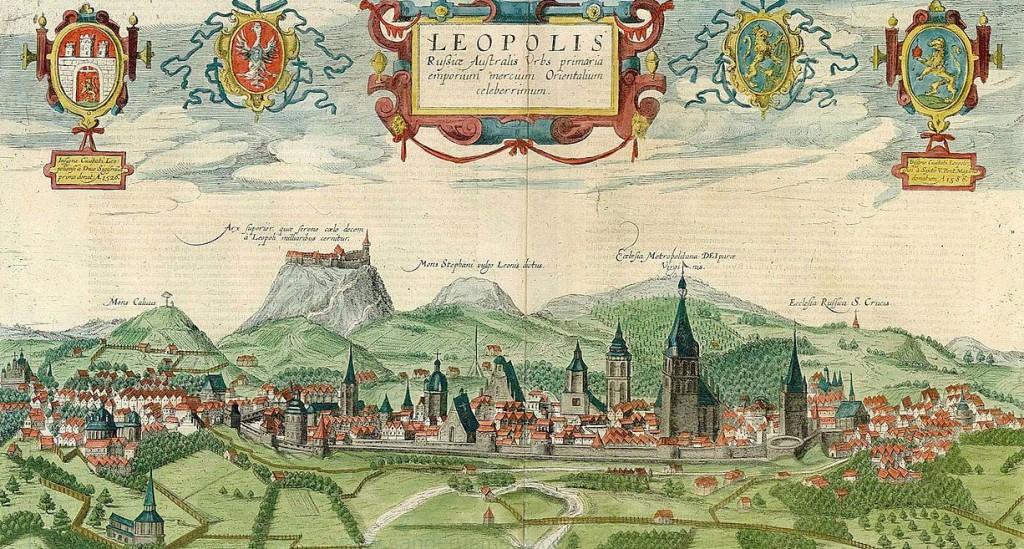 Panorama Lwowa - rok 1616