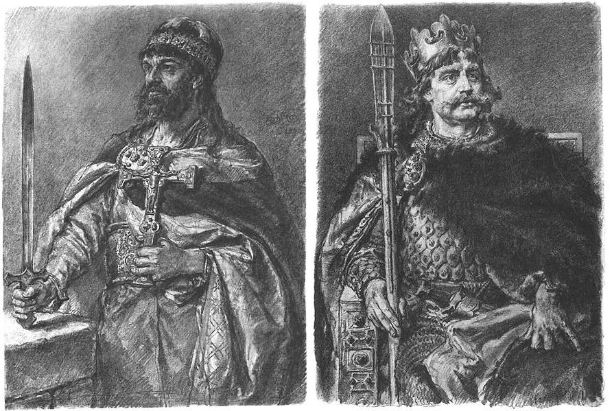 Mieszko I i Bolesław I Chrobry