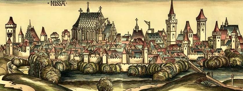 Panorama Nysy - rok 1493