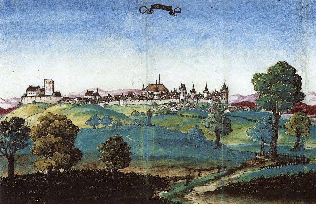 Panorama Opola z południowego wschodu - rok 1535
