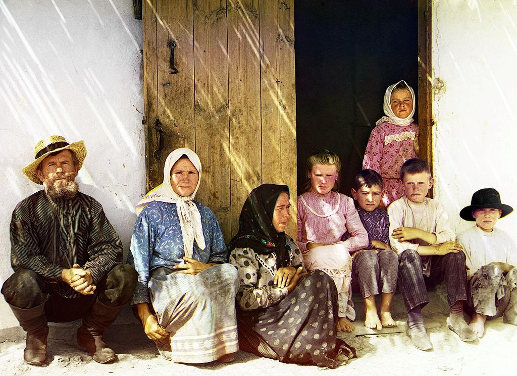 Rosyjscy osadnicy na stepach Azerbejdżanu.