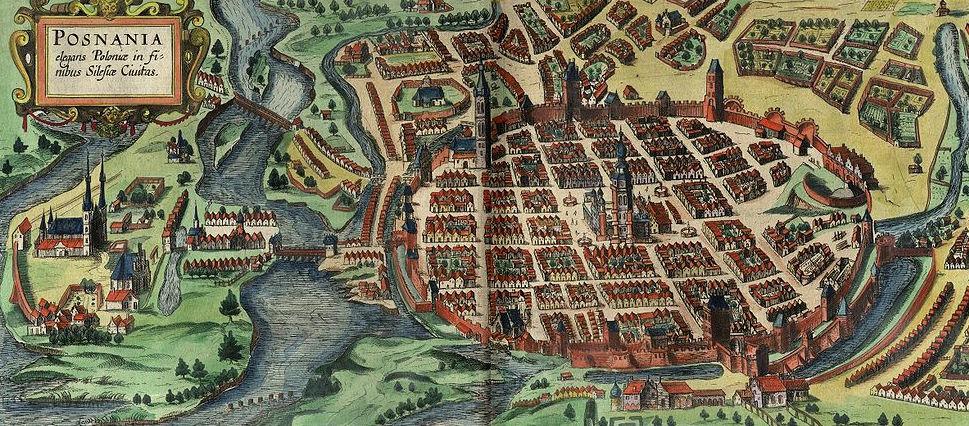 Widok perspektywiczny Poznania - rok 1617 lub 1618