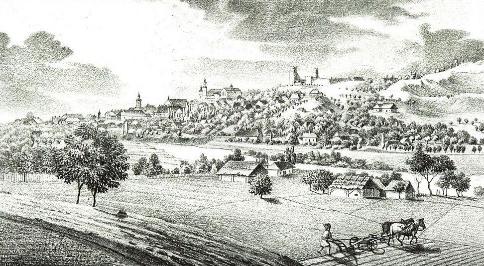 Przemyśl widok od północy - rok 1847