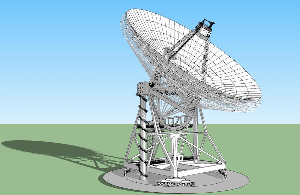 Wizualizacja nowego i większego radioteleskopu RT-5