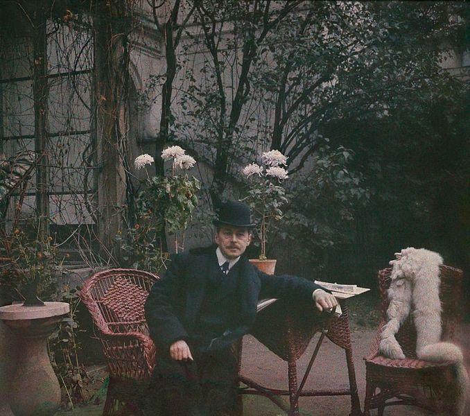 Autoportret Stanisława Wilhelma Lilpopa - Rok 1909 - Najstarsze kolorowe fotografie z Polski