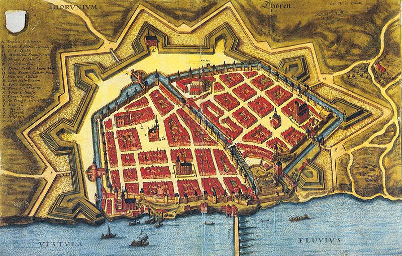 Toruń, mury miejskie i umocnienia - rok 1641