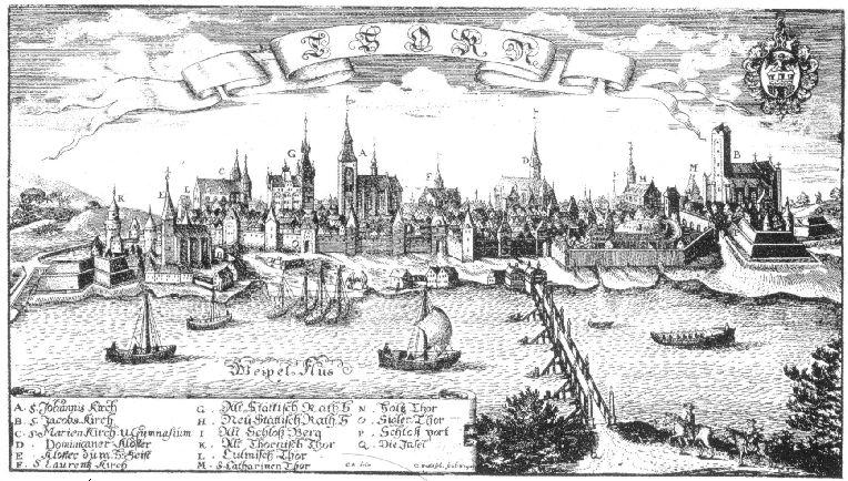 Panorama Torunia - rok 1500 lub 1684