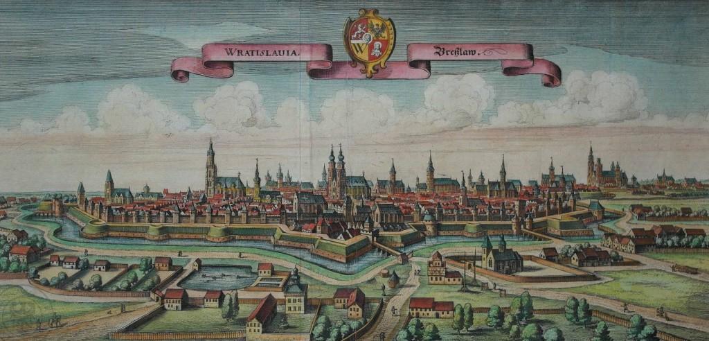 Wrocław na starych panoramach - rok 1650 lub 1642