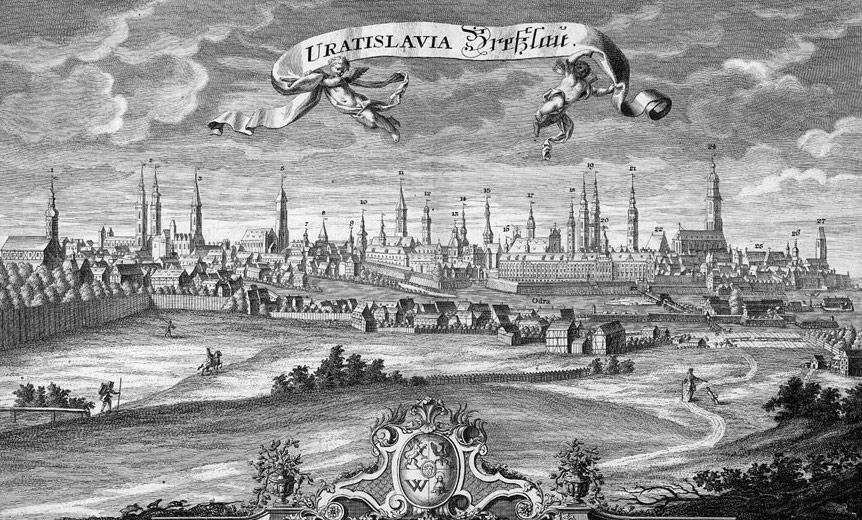 Panorama Wrocławia - rok 1736