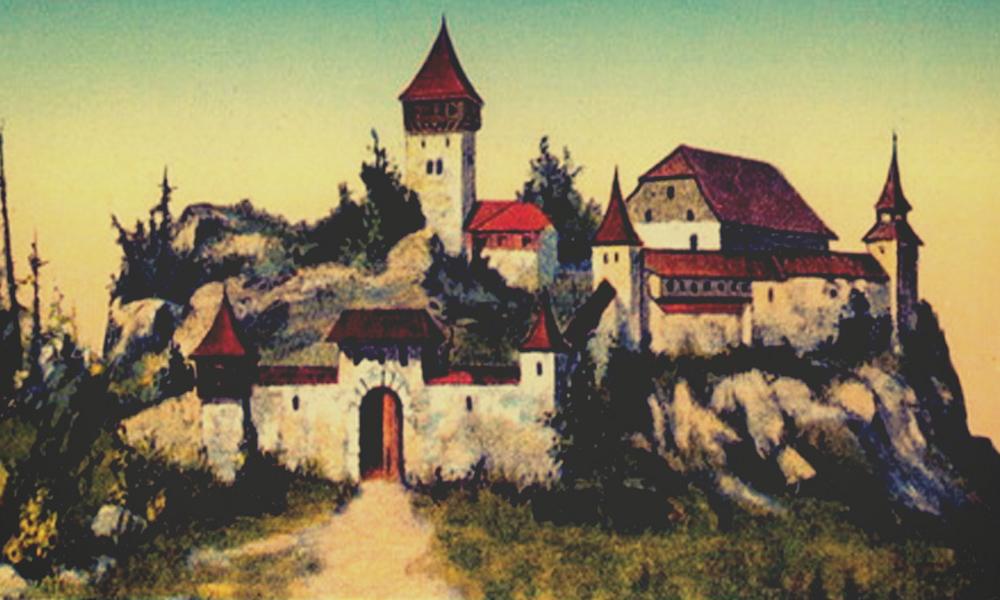 Wyobrażenie zamku na szczycie Ślęży