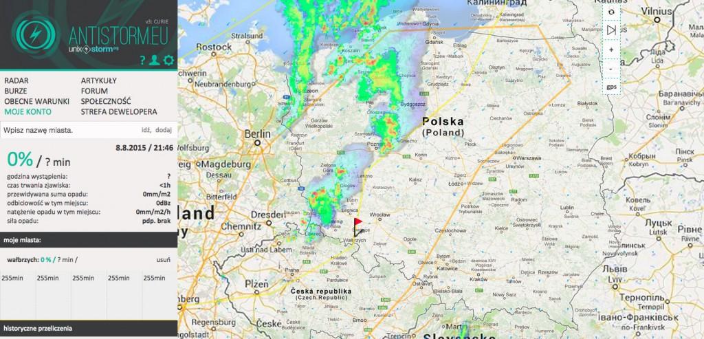 Antistorm.eu - Radar i Śledzenie Burz