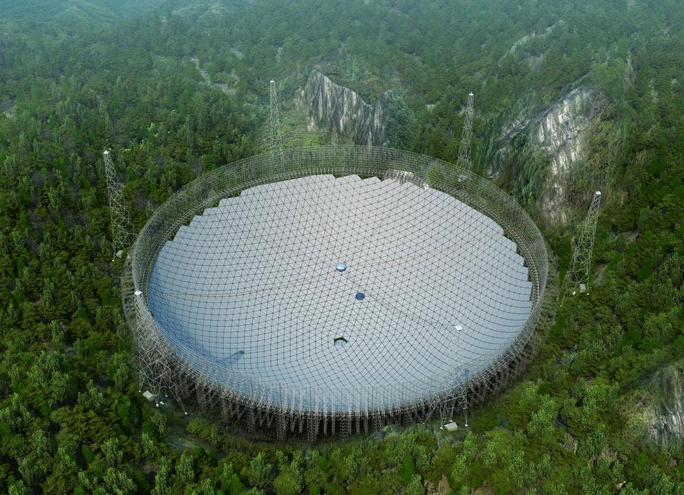 Radioteleskop FAST w Chinach - Źródło: fast.bao.ac.cn