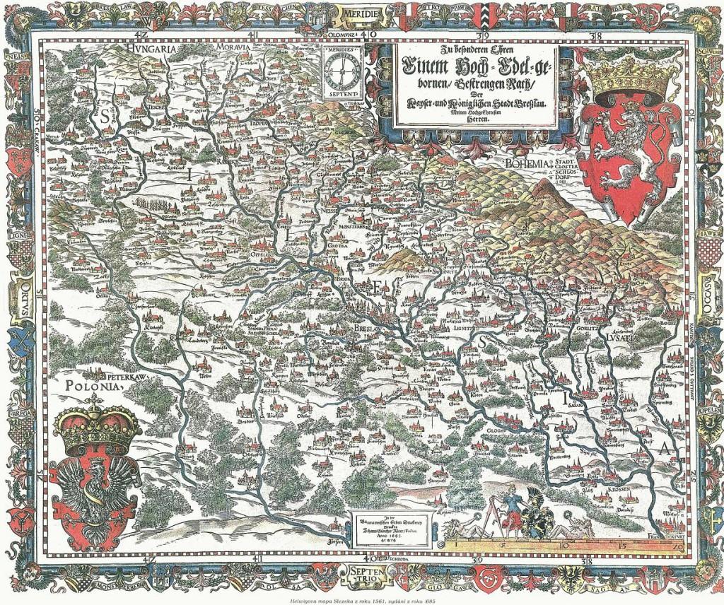 Stara Mapa Śląska Martina Heilwiga