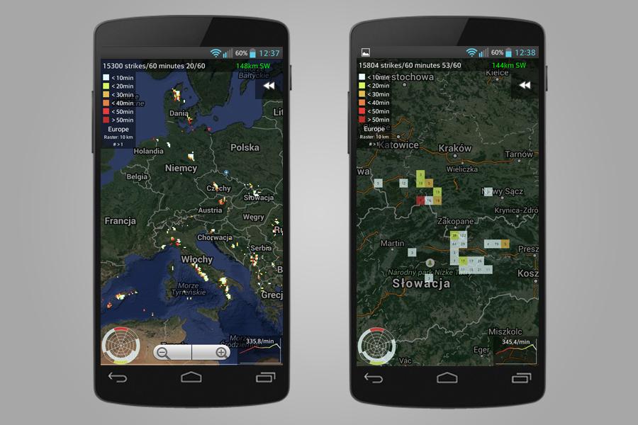Aplikacja Mobilna Blitzortung - Śledzenie Burz