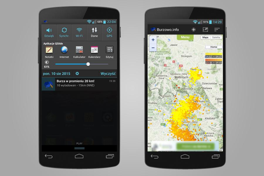 Burzowo.info - Aplikacja Mobilna