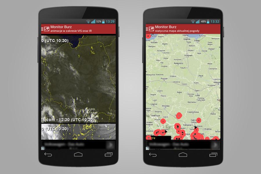 Monitor Burz - Aplikacja Mobilna