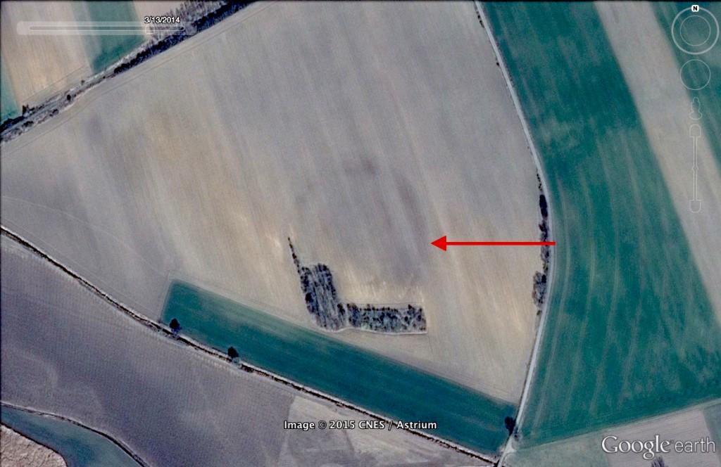 Neolityczny rondel koło Raciborza - 10 Ciekawych Miejsc w Polsce - Źródło: Google Earth