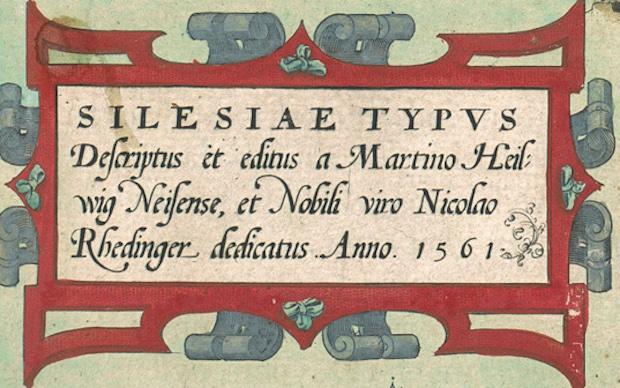 Silesiae Typus - Informacje i Podpis Starej Mapy Śląska