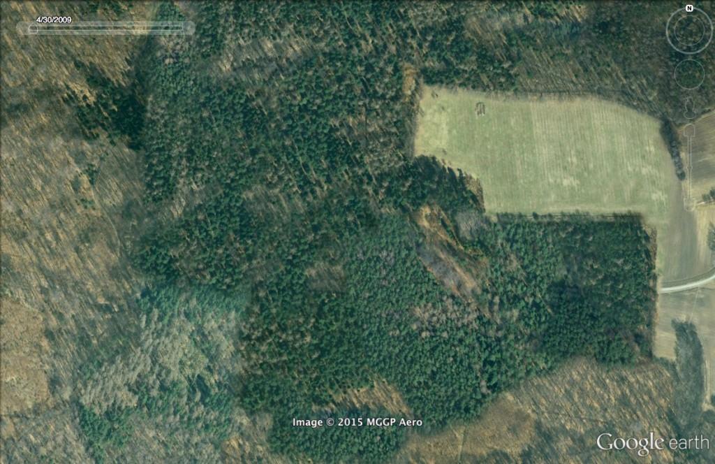 Ukryty radar - 10 Ciekawych Miejsc w Polsce - Źródło: Google Earth