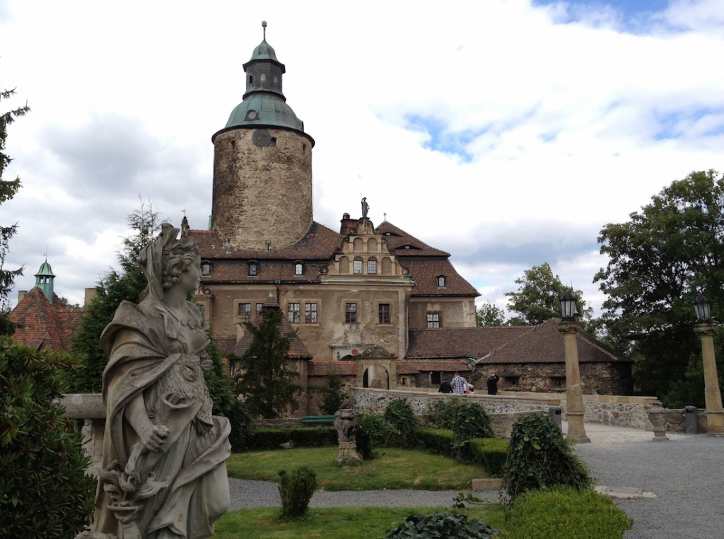 Historycznie Zamek Czocha leży na terenie Łużyc - Mapa zamków Dolnego Śląska