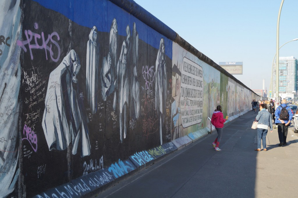 Zachowane pozostałości Muru Berlińskiego.
